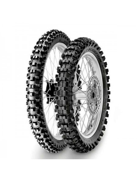 Шина (покрышка) 100/90-19 SCORPION MX32 MID SOFT 57M TT задняя DOT 25-35/2018, PIRELLI